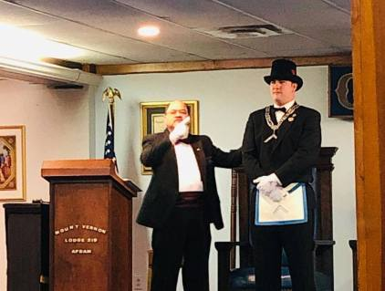 Mount Vernon Lodge No. 219 installation of officers for 2019.