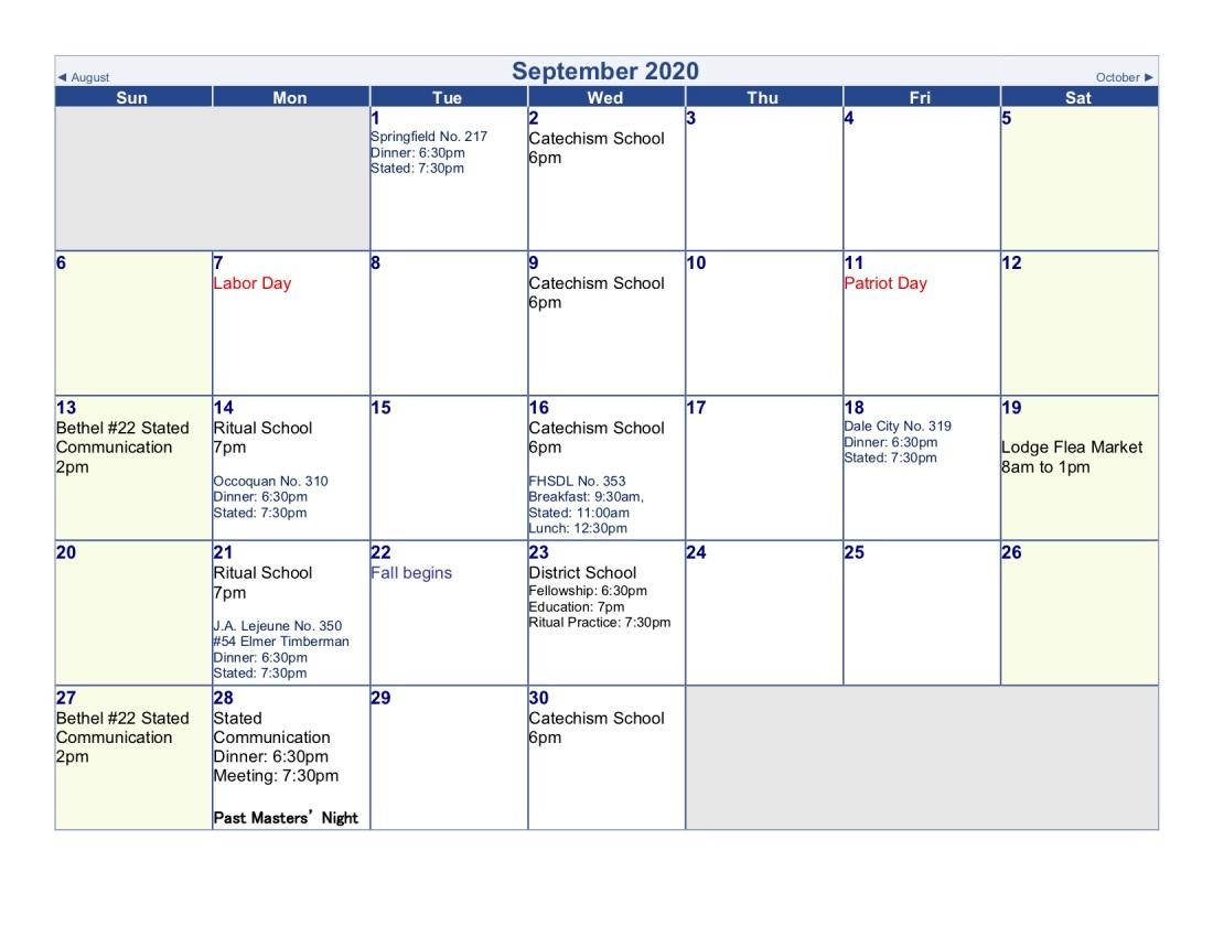 2020-Lodge Calendar (sep)